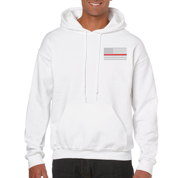 Thin Red Line American Flag Hoodies
