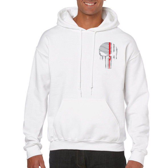 Thin Red Line Skull Hoodies
