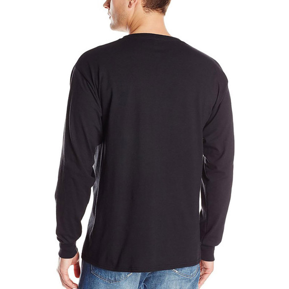 Thin Blue Line Skull Long Sleeve Black T-Shirts