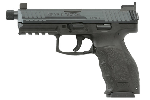 HK VP9T Tactical Pistol 9mm Night Sights & 3/15rd Magazines