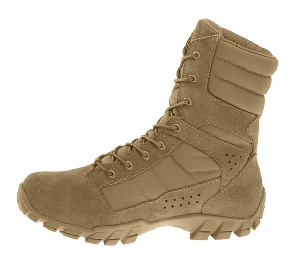"Bates E08670 Coyote Brown 8"" Lightweight Hot Weather Boots"