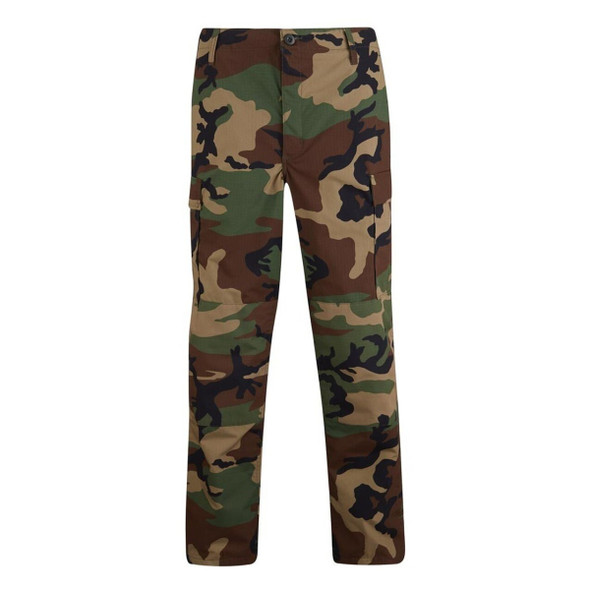 Propper F520112320 BDU Woodland Camo 60/40 Cotton/Poly Button Fly Trouser, Medium, Short