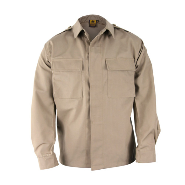 Propper BDU 65/35 Poly/Cotton Ripstop Long Sleeve Shirts, Khaki