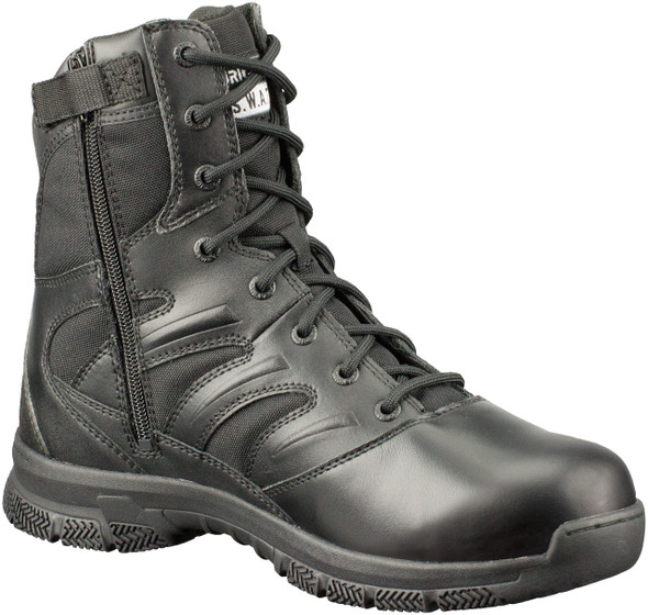 "Original SWAT 155201 Men's Force 8"" Side-Zip Black Boots"