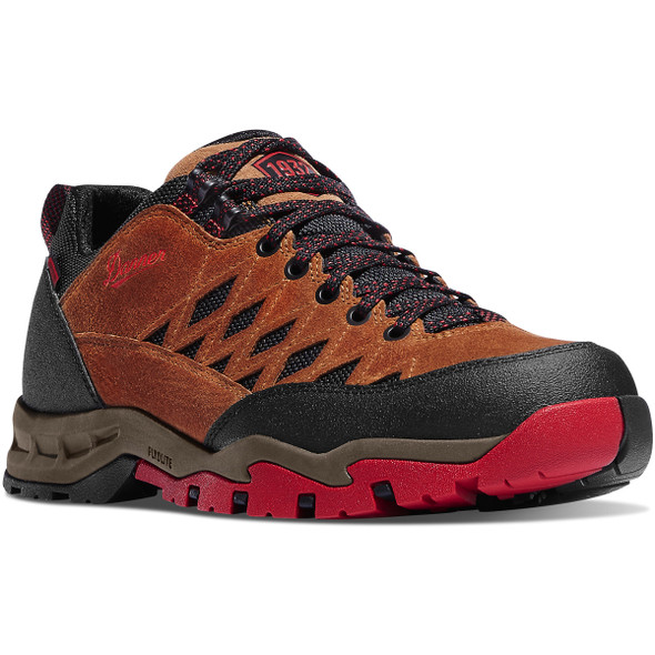 "Danner-61380 TrailTrek Light 3"" Shoes, Brown/Red"
