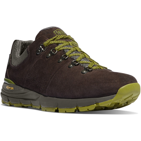 "Danner 62262 Mountain 600 Low 3"" Shoes, Dark Brown/Lichen"