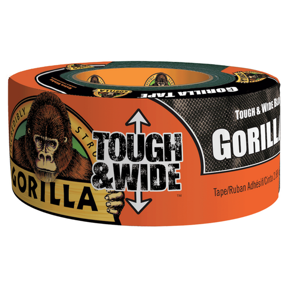 "Gorilla Duct Tape X-Wide 2.88"" x 30 Yard 2/Pack BLACK"