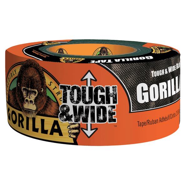 "Gorilla Duct Tape X-Wide 2.88"" x 30 Yard 2/Pack BLACK"