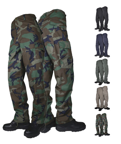 Tru-Spec Men's Basic Mil-Spec BDU 6.5oz. 65/35 Polyester Cotton Rip-Stop Pants
