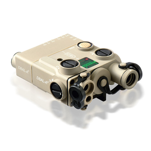 Steiner DBAL-A3 Dual Beam Visible Green/IR Aiming Laser w/IR Illuminator Tan