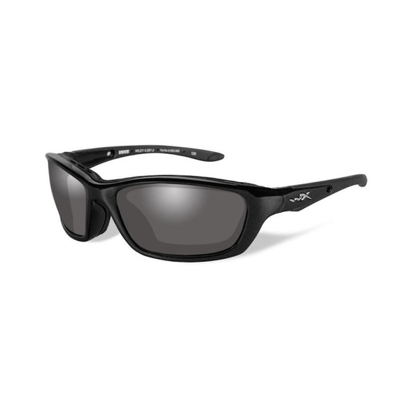 Wiley X 856 Brick Smoke Grey Lenses/Gloss Black Frame Ballistic Sunglasses