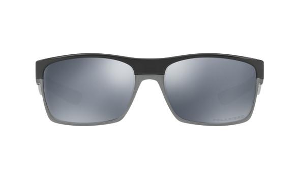 Oakley Men's Two Face Polished Black Frame Black Iridium Polarized Lenses