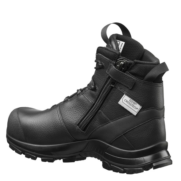 "Haix 620013 Women's Black Eagle Safety 55 Mid Side Zip 5"" Black Boots"