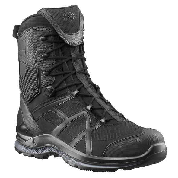 "Haix 330004 Black Eagle Athletic 2.0 T High Side Zip 8"" Black Boots"