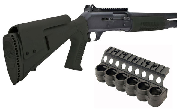 Mesa Benelli M4 Tactical Upgrade w/6rd Polymer Shell Carrier & Aluminum Top Rail