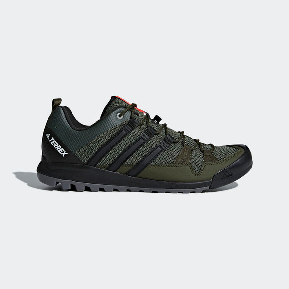 Adidas CM7658 Men's Outdoor Terrex Solo Real Teal/Core Black/Energy Green Shoes