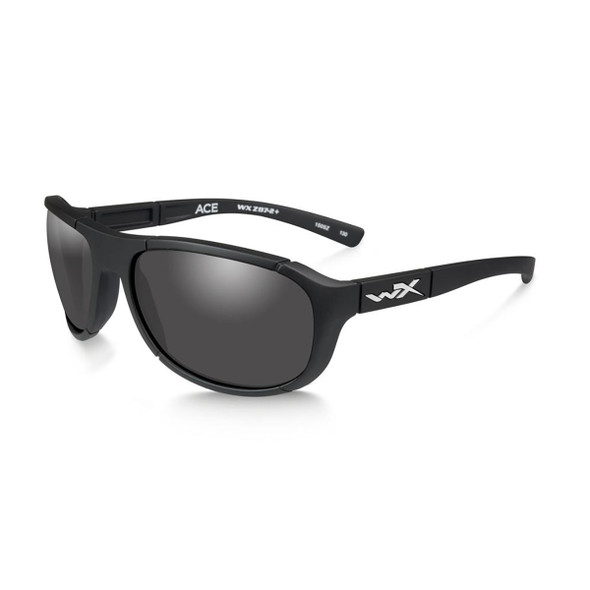 Wiley X ACACE01 Ace Grey Lens/Matte Black Frame Ballistic Sunglasses
