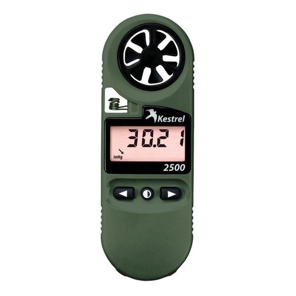 Kestrel 2500NV Weather Meter Olive Drab w/ Digital Altimeter & NV Backlight