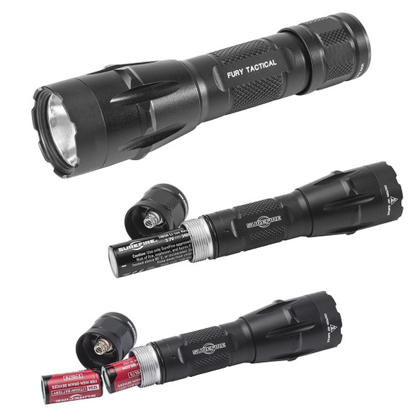 Surefire Fury DFT Dual Fuel Tactical LED Flashlights 1500 Lumens