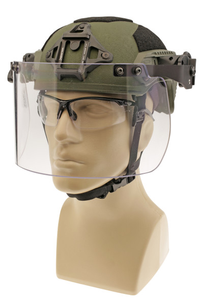 Battle Steel Rail-Mounted Riot Face Shield