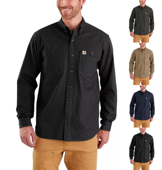 Carhartt Men's Rugged Flex Rigby Long Sleeve Work Shirts