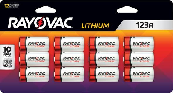 Rayovac RL123A 3-Volt Lithium Batteries 12/Pack