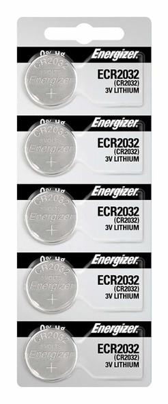 Energizer CR2032 Lithium 3v Batteries 5/Pack