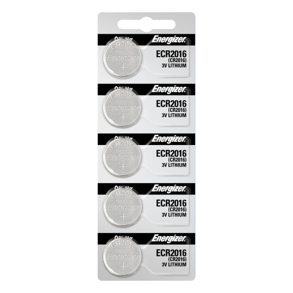 Energizer CR2016 Lithium 3v Batteries 5/Pack