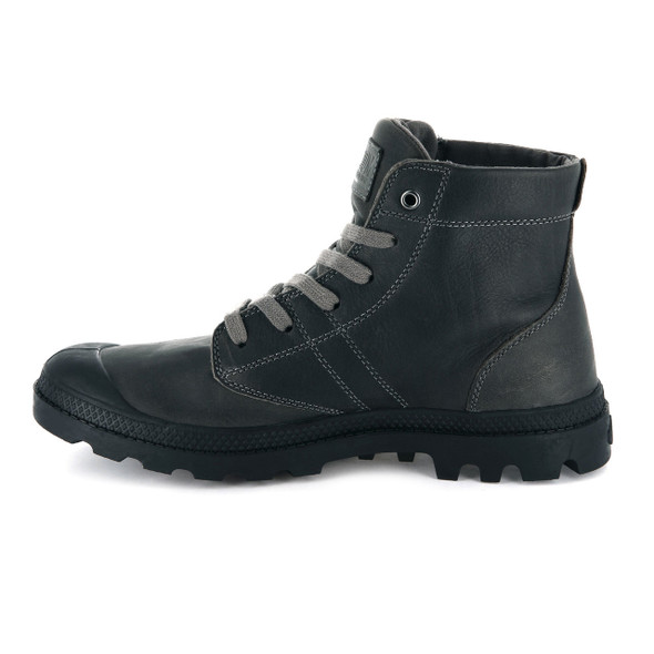 Palladium Men's Pallabrouse Leather Cloudburst/Black Boots