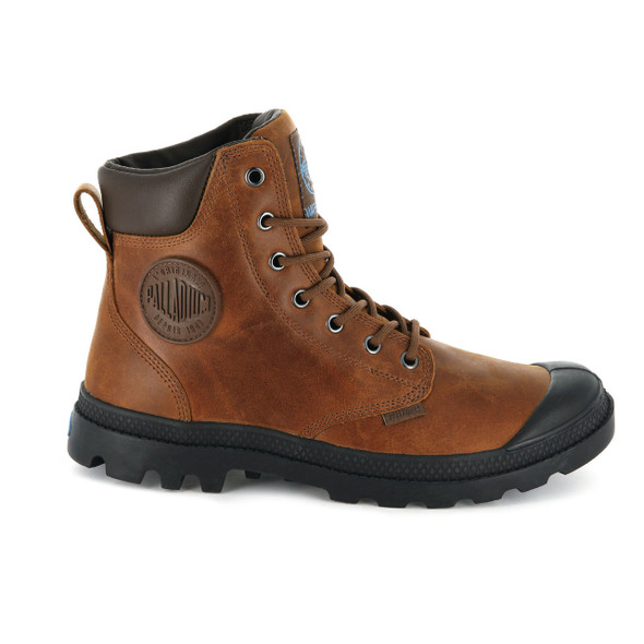 Palladium Men's Pampa Cuff WP Lux Sunrise/Carafe Boots