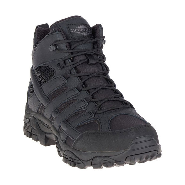 Merrel J15853 Men's Moab 2 Mid Tactical Waterproof Black Boots