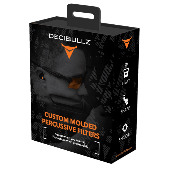 Decibullz Custom Molded Percussive Shooting Filters, Black