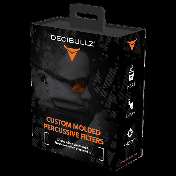 Decibullz Custom Molded Percussive Shooting Filters, Black