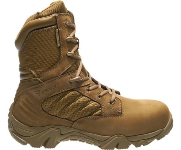 "Bates E04272 Coyote 8"" Side Zip Waterproof Boots"