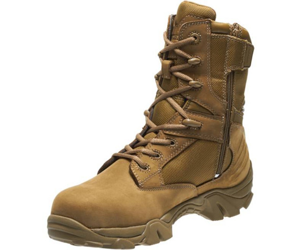 "Bates E04272 Coyote 8"" Side Zip Waterproof Boots"