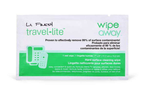 La Fresh Travel Lite WipeAway Hard Surface Cleaning Wipes 100/Pack