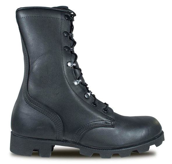 McRae 6189 Black All-Leather Combat Boot w/Panama Sole