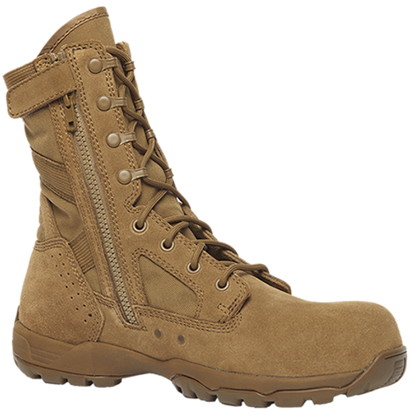 "Belleville FLYWEIGHT TR596Z CT 8"" Hot Weather Lightweight Side-Zip Composite Toe Coyote Boots"