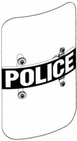 Paulson BS-3 24x48 Riot Shields w/POLICE Decal 10/Pack