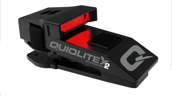 QuiqLite X2 Tactical Aluminum USB Rechargeable Clip Flashlight