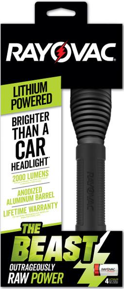 Rayovac The BEAST CR123A Lithium Flashlight 2000 Lumens