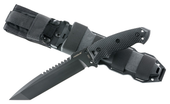 "Hogue EX-F01 A2 Tool Steel Tanto 7"" Black Fixed Blade Knives"