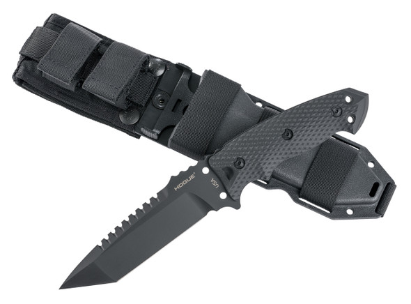 "Hogue EX-F01 A2 Tool Steel Tanto 5.5"" Black Fixed Blade Knives"