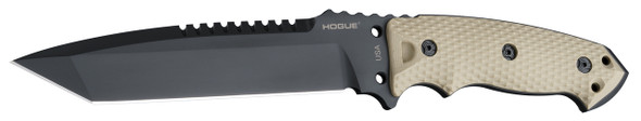 "Hogue EX-F01 A2 Tool Steel Tanto 7"" Fixed Blade Knives FDE"