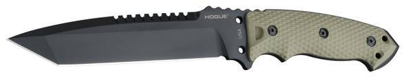 "Hogue EX-F01 A2 Tool Steel Tanto 7"" Fixed Blade Knives OD"