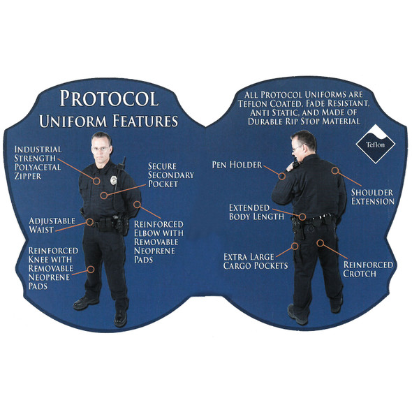 Protocol Long Sleeve Zip Up Shirts w/Internal Elbow Pads