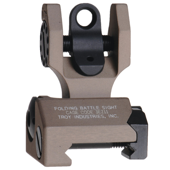 Troy M4 Flip-Up Battle Sights Rear / Tan