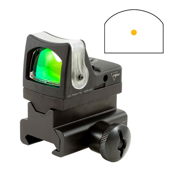 Trijicon RM04-34 RMR Dual Illuminated Sight 7.0 MOA Amber Dot w/RM34 Mount