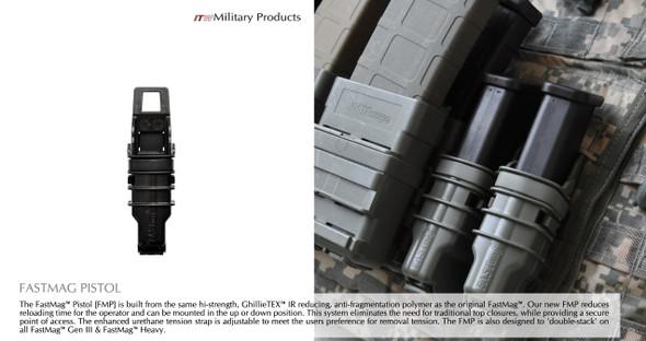 ITW FastMag GEN3 Molle PALS Pistol Magazine Holders Tan