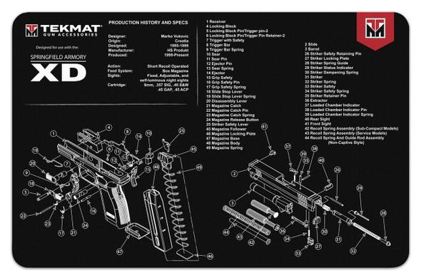 TekMats Handgun Cleaning Mats Springfield Armory XD